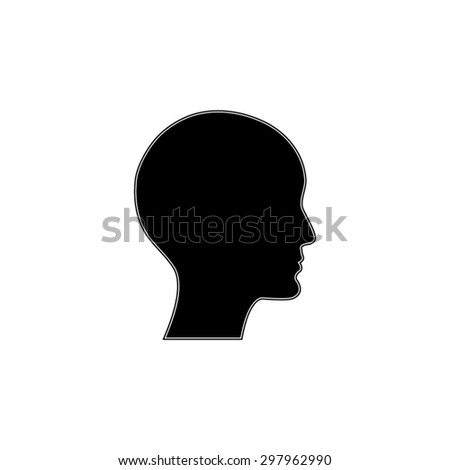 human profile picture - vector icon