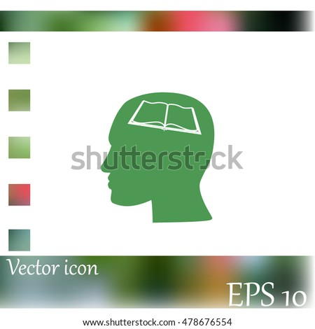 Human profile vector icon