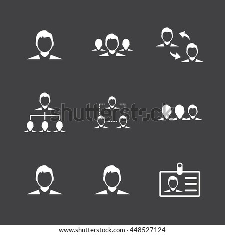 Human resource and Management icon. - stock vector