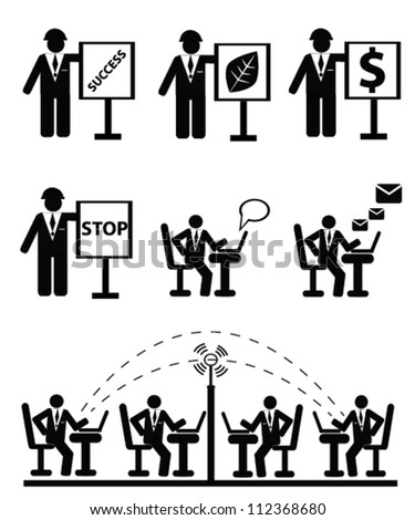 Human resource concept and technology,icon set,Vector
