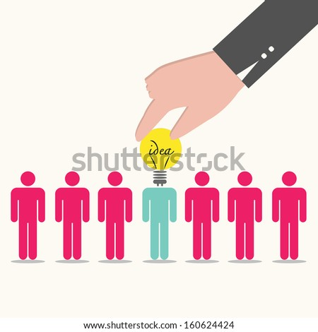 Human resource concept,business idea. - stock vector