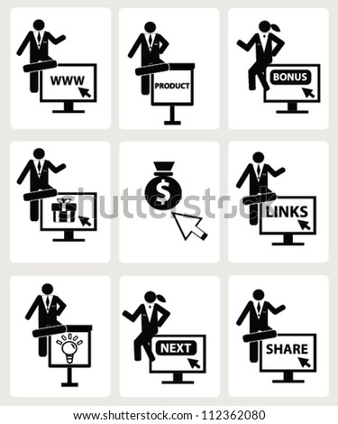 Human resource ,finance,e-commerrce and business concept,Vector