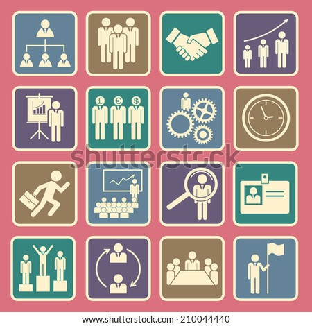 human resource icon - stock vector