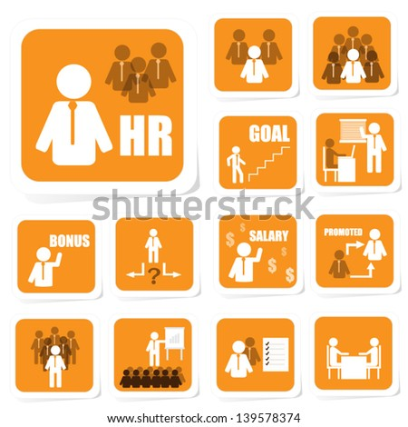 Human Resource Icon of Business Concept - stock vector