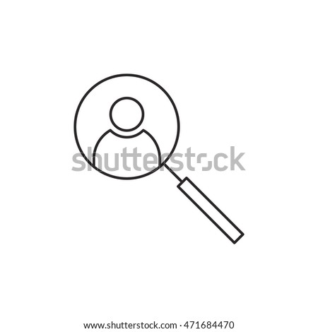 Human resource icon outline vector isolated on white background