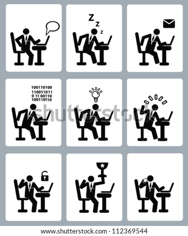 Human resource management,business,icon set,Vector