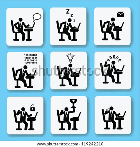 Human resource management,business ,icon set,Vector
