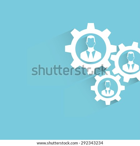 human resource management. gears. - stock vector