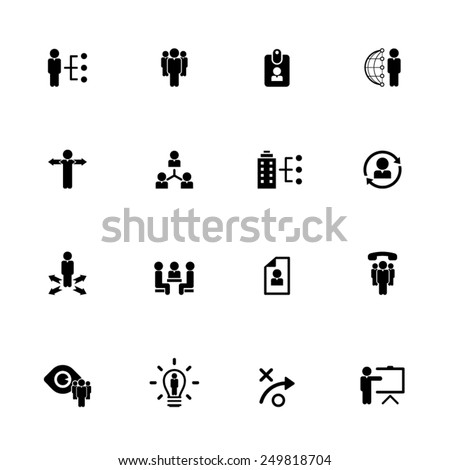 Human resource management icon set - EPS10 vector - stock vector