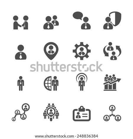human resource management icon set 5, vector eps10. - stock vector