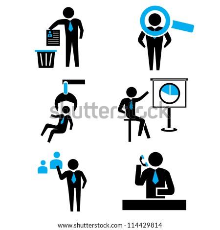 human resource management, recruitment - stock vector