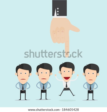 Human resource selection  - stock vector