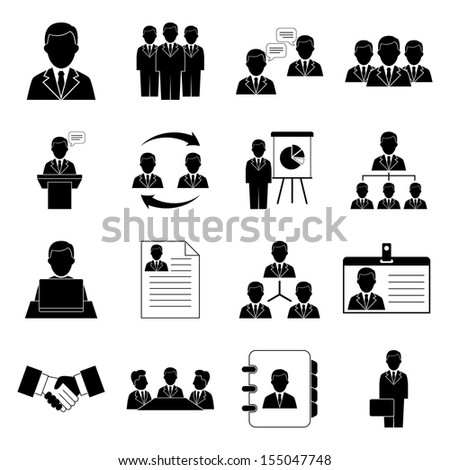 Human resources and management icons - stock vector