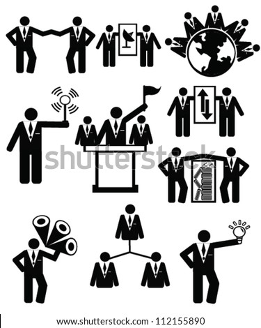 Human resources ,Business concept,resource,person style,icon set,Vector - stock vector