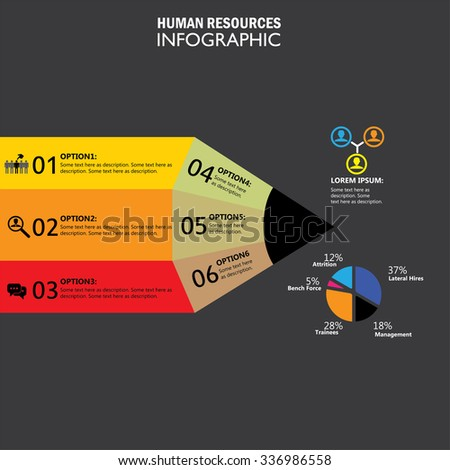 human resources concept infographic vector icon. this graphic also represents hiring, choice of candidates, search for the best, attrition, lateral recruitment, layoffs, trainees, staff turnover - stock vector