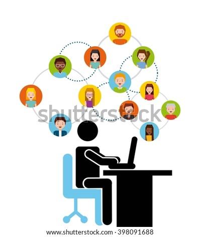 human resources design  - stock vector