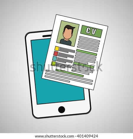 human resources document design, vector illustration