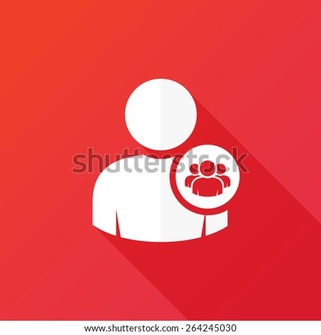 Human Resources Icon. User group - stock vector