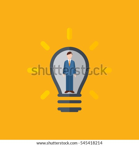 Human resources icon. Vector illustration.