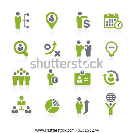 Human Resources Icons // Natura Series - stock vector
