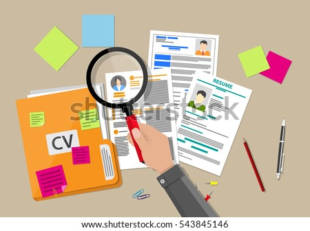 human resources management concept searching professional stock