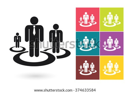 Human resources management vector icon or human resources symbol. Human resources icon for HR logo or HR label - stock vector