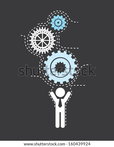 human resources over black background vector illustration