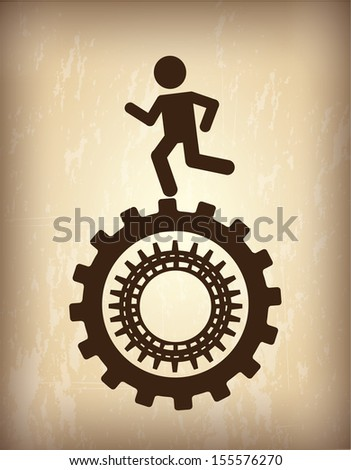 human resources over  bronze background vector illustration