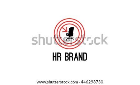 Human resources vector logo template. Staff recruitment brand identity - stock vector