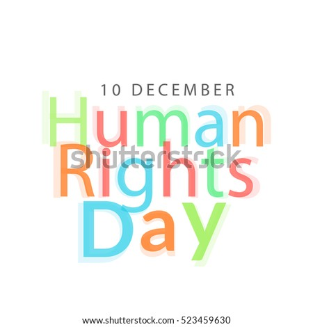 Human rights day poster or banner.