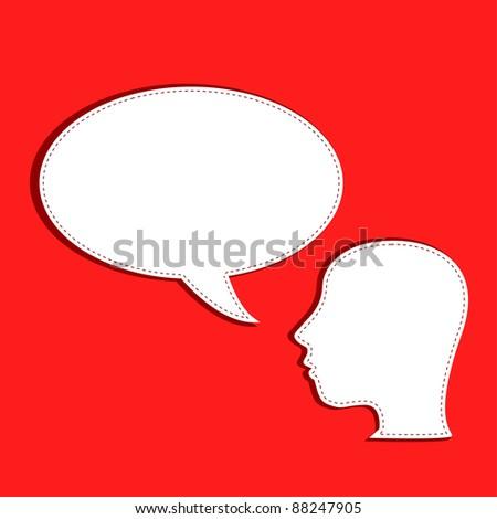 human talks in a speech bubble. vector - stock vector
