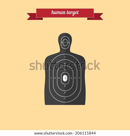 Human target. Flat style design - vector - stock vector