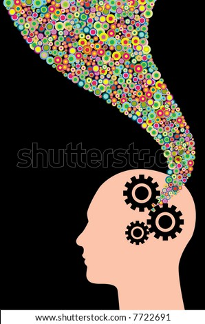 Human thought - stock vector