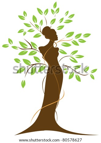 human tree - connection between man and nature - stock vector