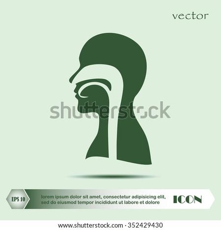 human, vector, throat - stock vector