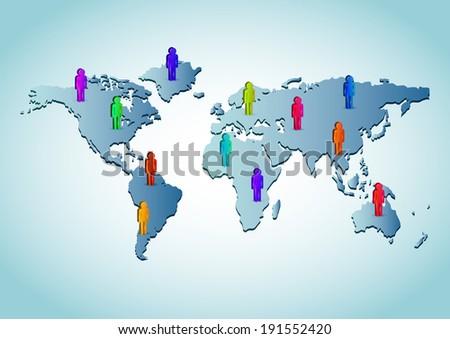Human World Figures - vector  - stock vector