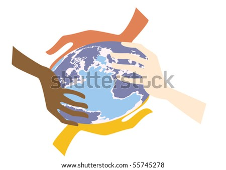 Humanity must protect our planet - stock vector