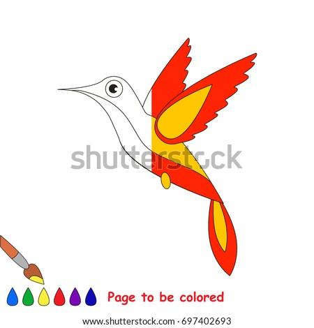 Hummingbird Coloring Book Educate Preschool Kids Stock Vector ...