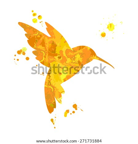 Hummingbird. Vector illustration - stock vector