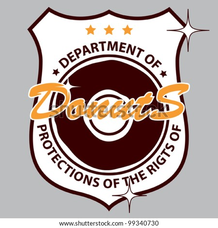 Humorous vector illustration of department of donuts icon - stock vector