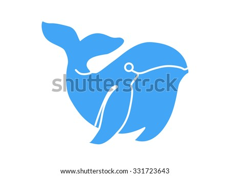 Humpback whale. Vector illustration Eps 10.