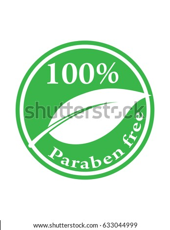 hundred percent paraben free green vector stock vector 633044999 shutterstock. Black Bedroom Furniture Sets. Home Design Ideas