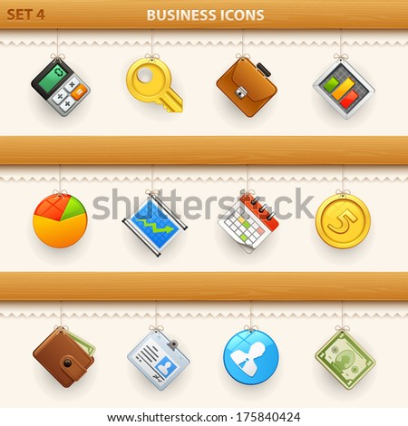 hung icons - set 4 - stock vector