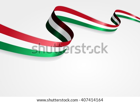 Hungarian flag wavy abstract background. Vector illustration. - stock vector
