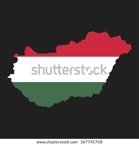 Hungary - map and flag
