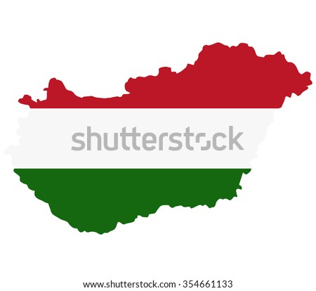 Hungary map on a white background