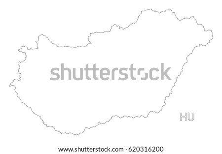 Map Hungary Stock Vector Shutterstock - Hungary blank map