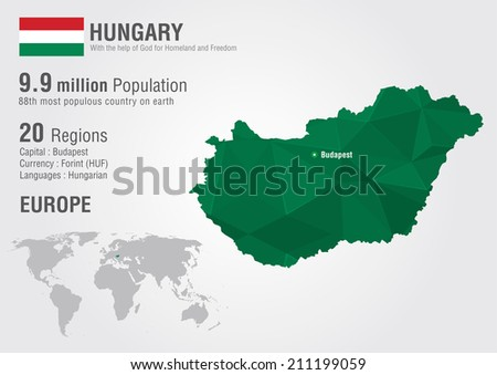 Hungary world map pixel diamond texture stock vector 211199059 hungary world map with a pixel diamond texture world geography gumiabroncs Choice Image