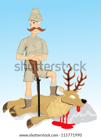 Hunter - stock vector