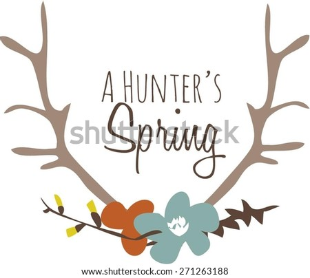 Hunters Spring   - stock vector